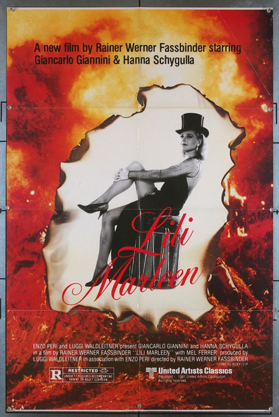 LILI MARLEEN (1981) 3258 United Artists Original U.S. One-Sheet Poster (27x41) Folded  Very Good Condition