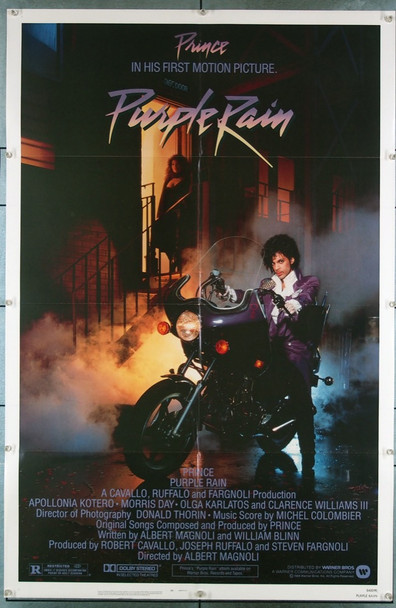 PURPLE RAIN (1984) 3220 Warner Brothers Original U.S. One-Sheet Poster (27x41) Folded  Very Fine Plus Condition