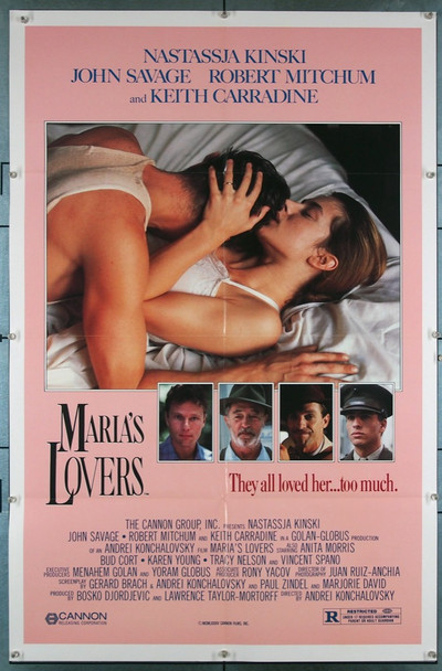 MARIA'S LOVERS (1985) 3242 Cannon Studios Original U.S. One-Sheet Poster  (27x41)  Folded  Very Fine Condition