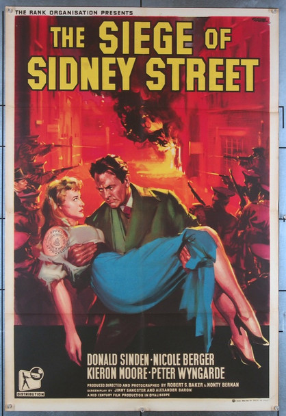 SIEGE OF SIDNEY STREET, THE (1960) 27792 Regal Films International Original British One-Sheet Poster  Folded  Fine Plus Condition