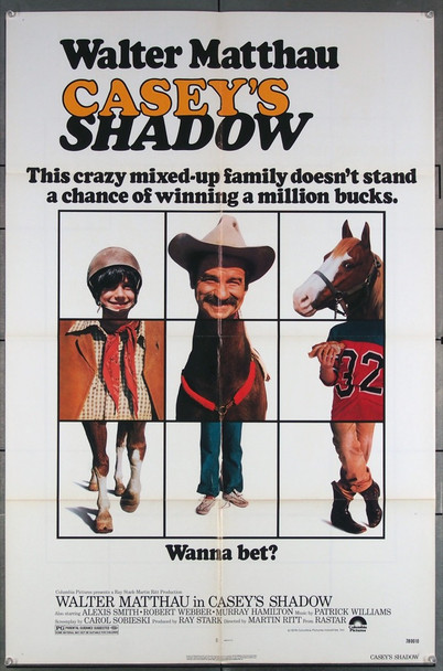 CASEY'S SHADOW (1978) 27137 Columbia Pictures Original U.S. One-Sheet Poster (27x41) Folded  Fine Plus Condition