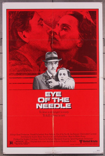 EYE OF THE NEEDLE (1981) 27161 Original United Artists 1981 Release One Sheet Poster (27x41)  Very Fine Condition