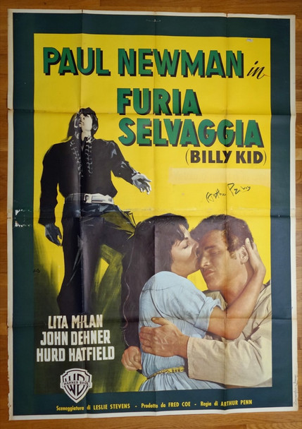 LEFT HANDED GUN, THE (1958) 27744 Warner Brothers Original Italian 79x55 Poster.  Folded  Fine Condition Unrestored  Art by Nano