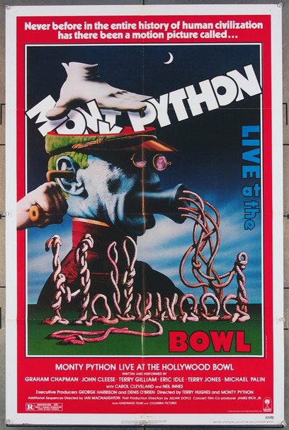 MONTY PYTHON LIVE AT THE HOLLYWOOD BOWL (1982) 27261 Columbia Pictures Original U.S. One-Sheet Poster (27x41) Folded  Very Fine