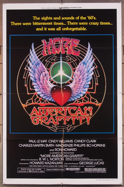 MORE AMERICAN GRAFFITI (1979) 27264 Universal PIctures Original U.S. One-Sheet Poster (27x41) Folded  Very Fine