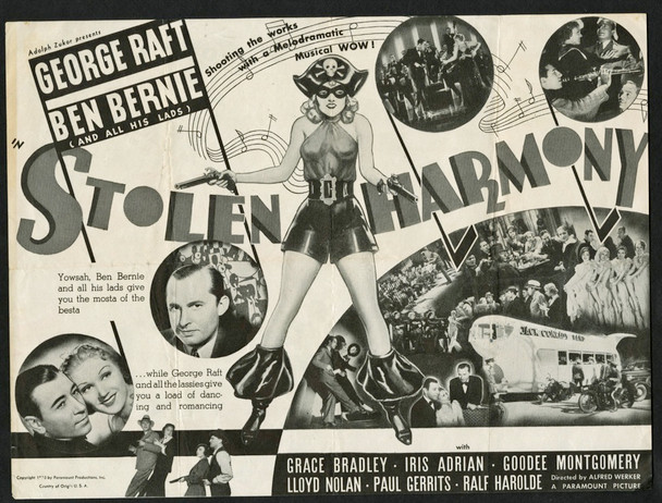 STOLEN HARMONY (1935) 15532 Paramount PIctures Theater Herald  (6x9)  Very Good Condition