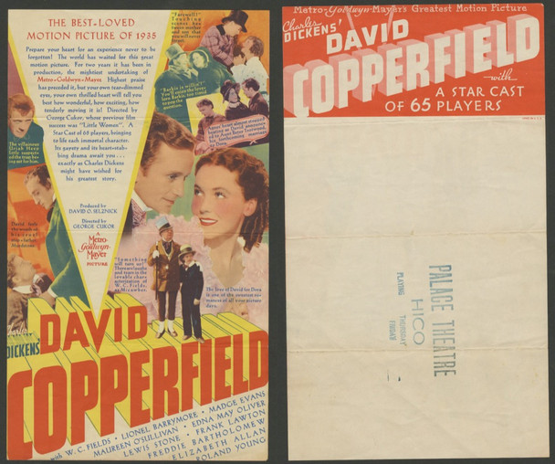 DAVID COPPERFIELD (1935) 15534 MGM Original Theater Handbill or Herald (6x7) Very Good Condition