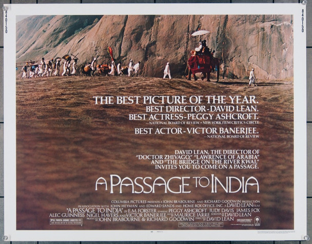 PASSAGE TO INDIA, A (1984) 27795 Columbia Pictures Original U.S. Half Sheet Poster  Rolled  Very Fine Plus Condition