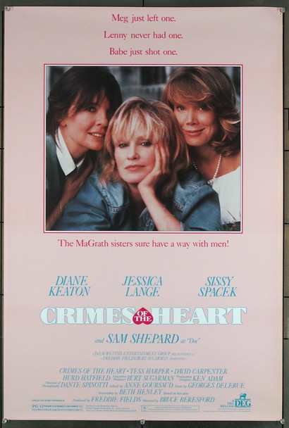 CRIMES OF THE HEART (1986) 27815 DEG Original U.S. One-Sheet Poster  (26.5 X 39.5)  Rolled  Very Fine Plus Condition