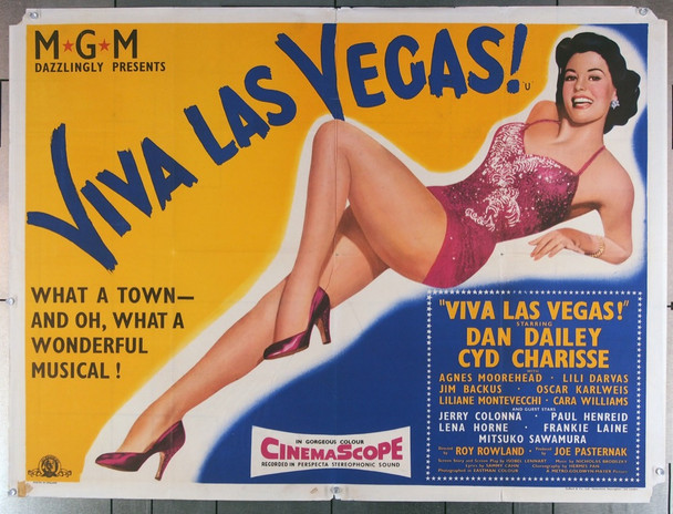 MEET ME IN LAS VEGAS (1956) 27840 MGM Original British Quad Poster (30x40)  Folded  Very Good Plus Condition