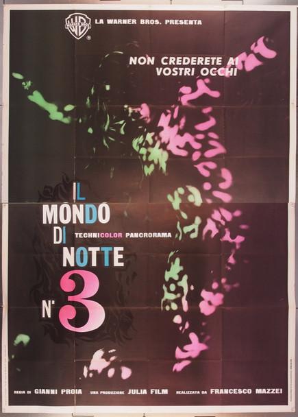 MONDO DI NOTTE NUMERO 3, IL (1963) 27688 Warner Brothers Original Italian Four-Foglio Poster  (79x55)  Very Good Plus Condition