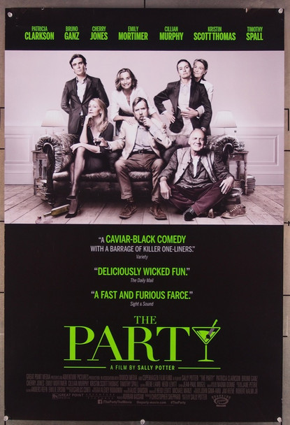 PARTY, THE (2017) 27834 Roadside Attractions Original U.S. One-Sheet Poster (27x40) Rolled Fine Plus Condition