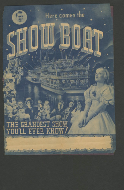 SHOW BOAT (1936) 15527 Theater Handbill or Herald (9x12) Fine Condition