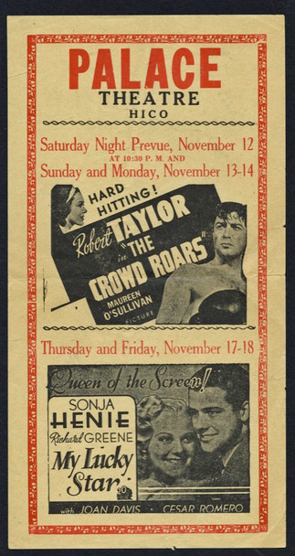 CROWD ROARS, THE (1938) 21375 Theater Herald or Handbill (5x10)  Very Fine Condition