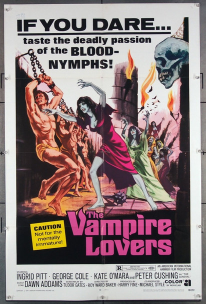 VAMPIRE LOVERS, THE (1970) 6650 American International Original U.S. One-Sheet Poster (27x41) Folded  Very Fine