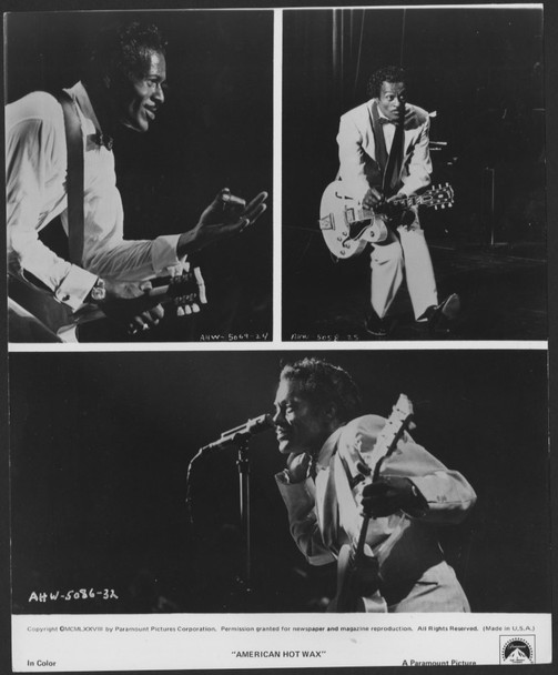 AMERICAN HOT WAX (1978) 27851 Gelatin Silver Print (8x10) Paramount Pictures Publicity Photo  CHUCK BERRY  Very Fine Condition