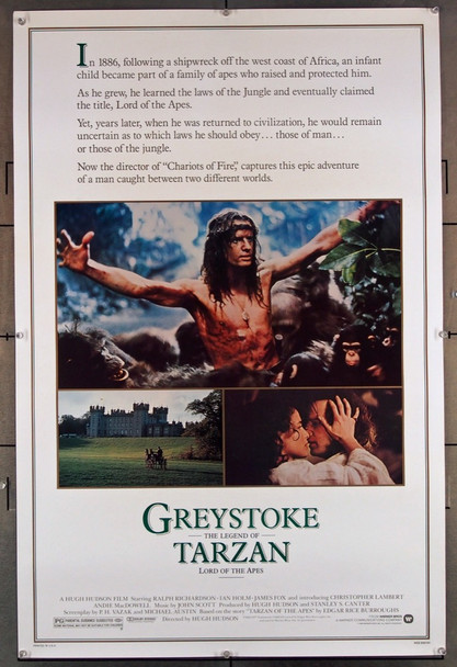 GREYSTOKE: THE LEGEND OF TARZAN, LORD OF THE APES  (1984) 27852 Warner Brothers Original U.S. 30x40 Poster  Rolled  Very Fine Condition