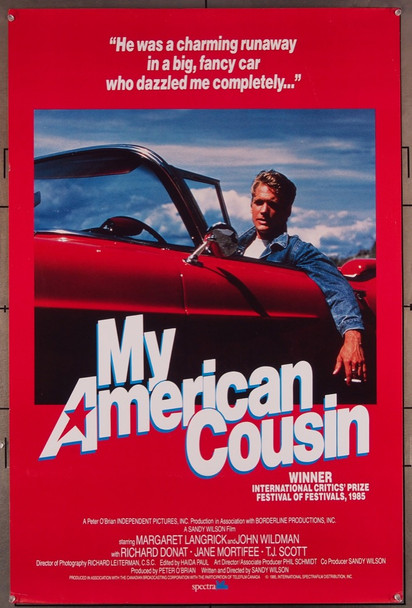 MY AMERICAN COUSIN (1985) 46 Spectra Film Original U.S. One-Sheet Poster  Rolled  Very Fine Plus Condition