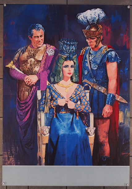 CLEOPATRA (1963) 12768 20th Century Fox Original German 23x33 Poster  Folded  Very Fine Condition