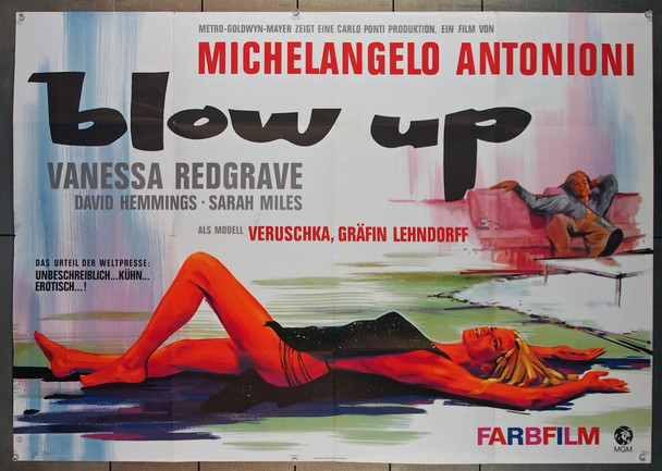 BLOWUP (1966) 13784 MGM Original German 33x47 Poster  Folded  Very Fine Condition