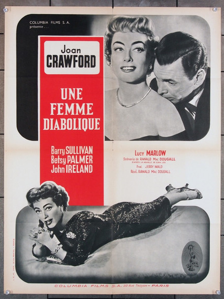 QUEEN BEE (1955) 15585 Columbia Pictures Original French 24x32 Poster  Folded  Very Fine Condition
