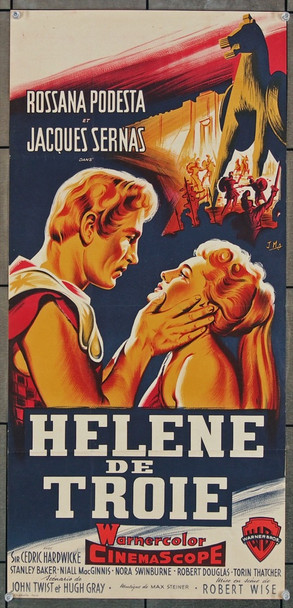 HELEN OF TROY (1956) 15728 Warner Brothers Original French 18x29  Folded  Very Fine Condition