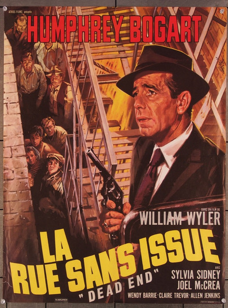 DEAD END (1937) 7957 United Artists French 23x30 Poster Folded  Re-release of the 1960s