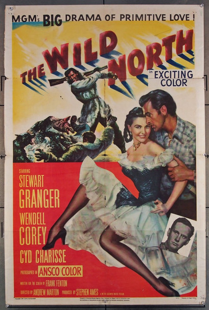 WILD NORTH, THE (1952) 2893 MGM Original U.S. One-Sheet Poster (27x41) Folded  Fair Condition Only