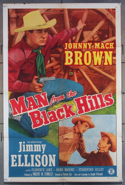 MAN FROM THE BLACK HILLS (1952) 2911 Monogram Original U.S. One-Sheet Poster (27x41) Folded  Fine Condition