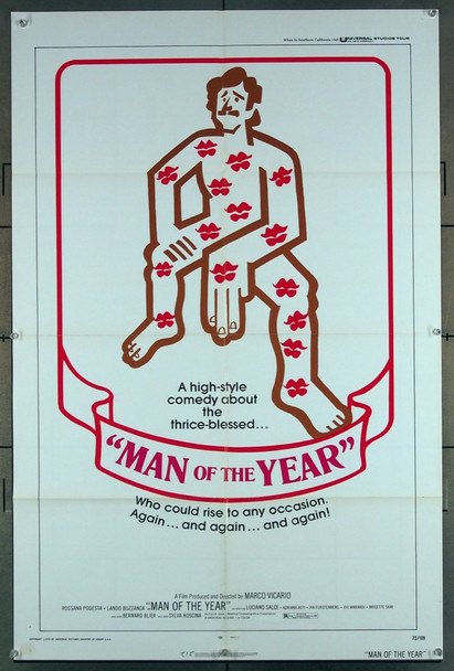 MAN OF THE YEAR (1973) 2909 Universal PIctures U.S. One-Sheet Poster (27x41) Folded  Very Good Condition