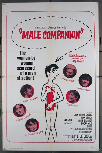 MONSIEUR DE COMPAGNIE, UN (1964) 2912 20th Century Fox Original U.S. One-Sheet Poster (27x41) Folded  Good Condition