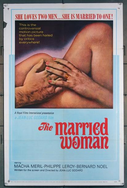 FEMME MARIEE, UNE: SUITE DE FRAGMENTS D'UN FILM TOURNE EN 1964 (1964) 2927 Royal Films International U.S. One-Sheet Poster (27x41) Folded  Very Good Condition