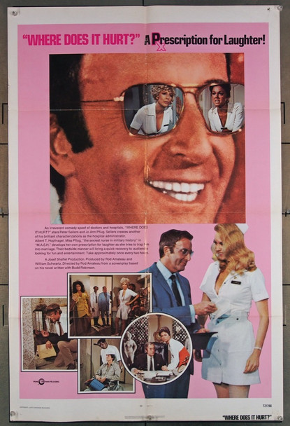 WHERE DOES IT HURT? (1972) 692 Original Cinerama Releasing Corporation One Sheet Poster (27x41).
