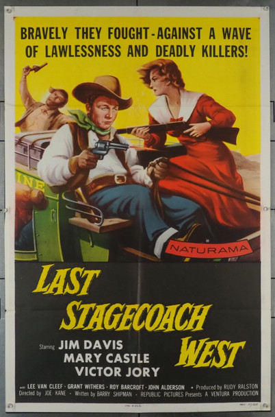LAST STAGECOACH WEST (1957) 707 Original Republic Pictures One Sheet Poster (27x41).