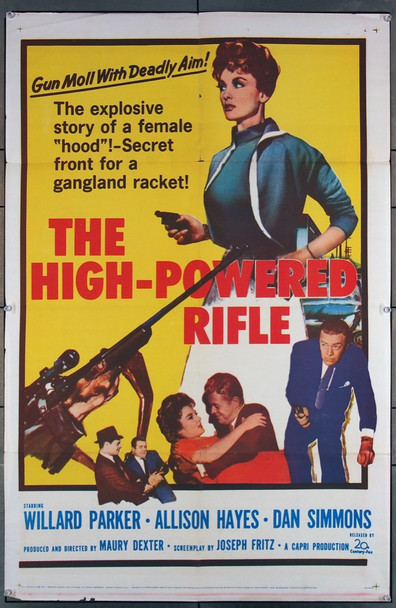 HIGH-POWERED RIFLE, THE (1960) 1896 20th Century Fox Original One-Sheet Poster (27x41) Folded  Very Good Plus Condition