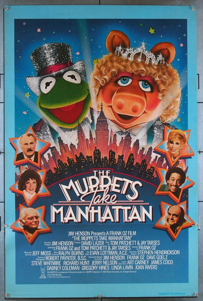 MUPPETS TAKE MANHATTAN, THE (1984) 45 Tri-Star Original U.S. One-Sheet Poster (27x41) Tri-Folded  Very Fine Plus Condition