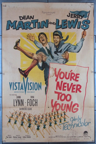 YOU'RE NEVER TOO YOUNG (1955) 736 Original Paramount Pictures One Sheet Poster (27x41).