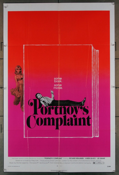 PORTNOY'S COMPLAINT (1972) 2084 Warner Brothers Original U.S. One-Sheet (27x41) Folded  Very Good Plus