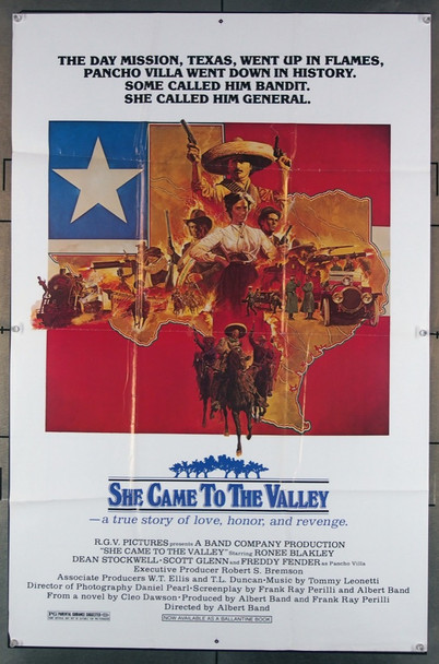 SHE CAME TO THE VALLEY (1979) 10499 R.G.V Pictures Original One-Sheet Poster (27x41)  Good Condition
