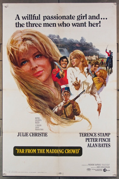FAR FROM THE MADDING CROWD (1967) 27879 MGM Original 70mm One-Sheet Poster (27x41) Folded  Fine Plus Condition