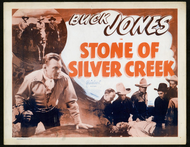 STONE OF SILVER CREEK (1935) 8867 Realart U.S. Title Card (11x14) Re-release of 1948
