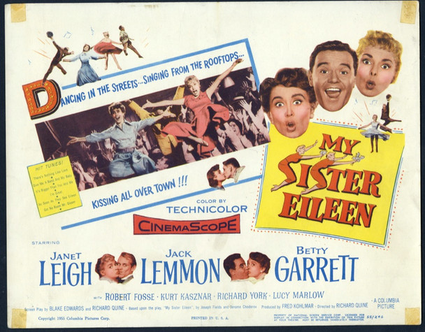 MY SISTER EILEEN (1955) 8876 Columbia PIctures Original 11x14 Title Card  Average Used Good Condition