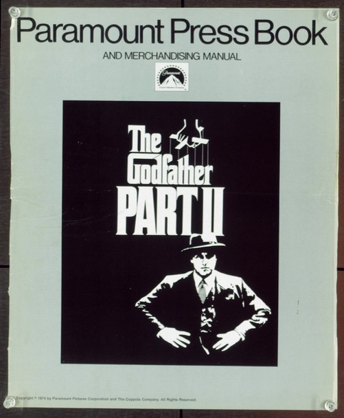 GODFATHER PART II, THE (1974) 20505 Original Paramount Pictures Pressbook and Merchandising Manual (13x15).  Good Condition.