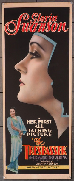 TRESPASSER, THE (1929) 27888 United Artists Original U.S. Insert Card Poster (14x36) Fine Plus to Very Fine Condition