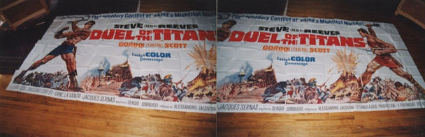 DUEL OF THE TITANS (1961) 7629 Paramount Pictures Original 24 Sheet Poster (9 feet by 20 feet) Very Fine Condition