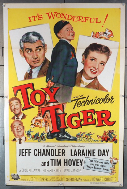 TOY TIGER, THE (1956) 20092 Universal Pictures Original U.S. One-Sheet Poster (27x41) Folded  Fine Plus to Very Fine Condition