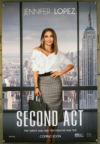 SECOND ACT (2018) 27913 Original STX Entertainment Original Advance One Sheet Poster (27x40).  Double-Sided.  Rolled.   Very Fine.