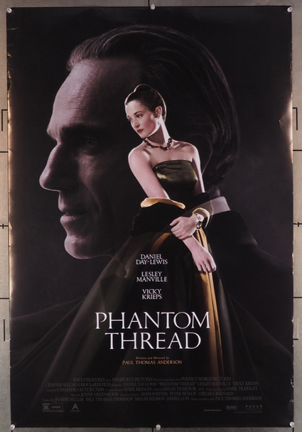 PHANTOM THREAD (2017) 27912 Original Focus Features One Sheet Poster (27x40).  Double-Sided.  27913Rolled.   Fine Plus Condition.