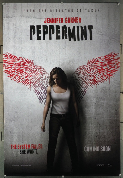 PEPPERMINT (2018) 27910 Original STX Entertainment One Sheet Poster (27x40).  Double-Sided.  Rolled.  Very Fine Condition.