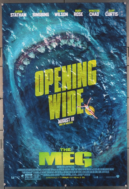 MEG, THE (2018) 27907 Original Warner Brothers Advance IMAX and 3D One-Sheet Poster (27x40).  Double-Sided.  Rolled.  Fine to Very Fine.